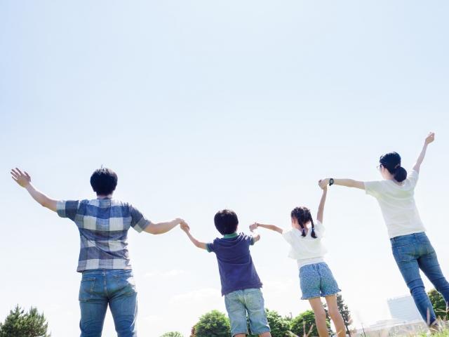 家族と一緒に日本で暮らす